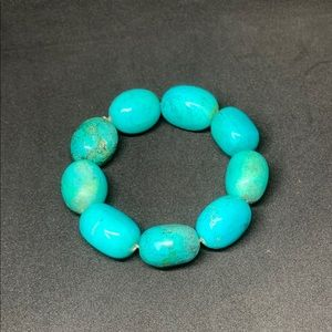 Faux Turquoise Stretch Bracelet